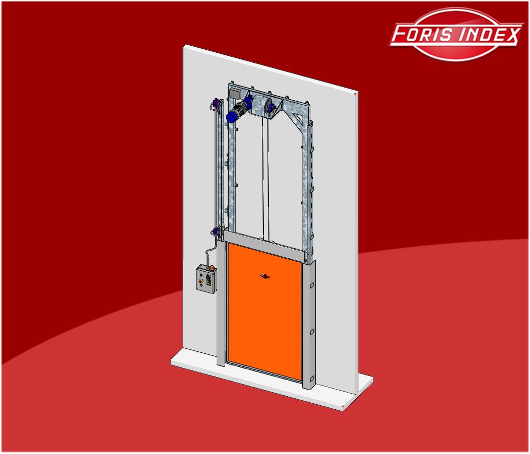 Portes pour chambres froides gh 91d guillotine porte for Porte pour chambre